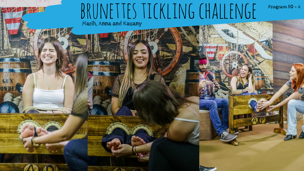 Brunettes tickling challenge part1 program 10 - Marih, Anna and Kauany