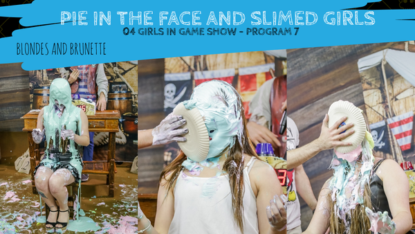 pie in the face girls, slimed girls