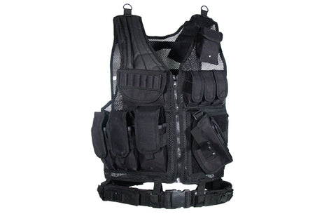 UTG Tactical Scenario Vest, Right Handed, Black
