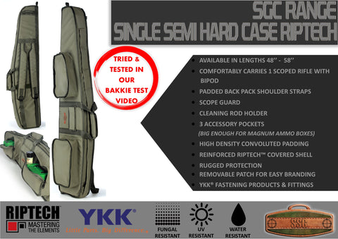 SSG RIFLE CASE SEMI HARD (RIPTECH) - SINGLE