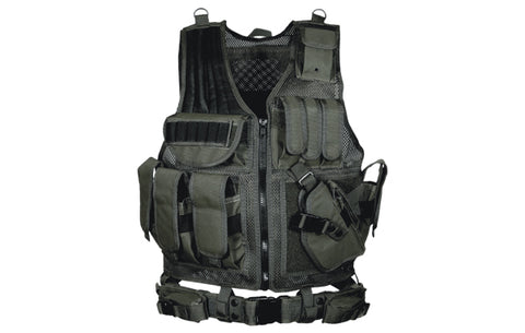 UTG 547 Law Enforcement Tactical Vest, Right Handed, Black