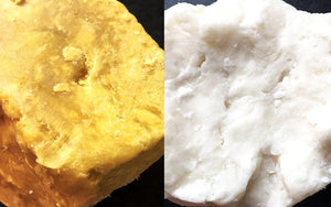Real Differences between Unrefined, 100% pure African Ivory and Yellow Shea Butter from Ghana