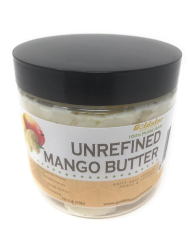 Goldstar 100% Pure Raw Unrefined Mango Butter - 16OZ
