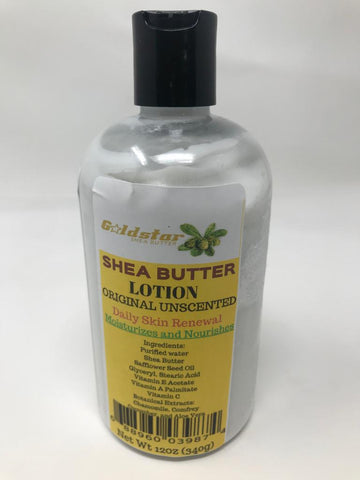 Goldstar Premium Shea Butter Lotion - 12 OZ