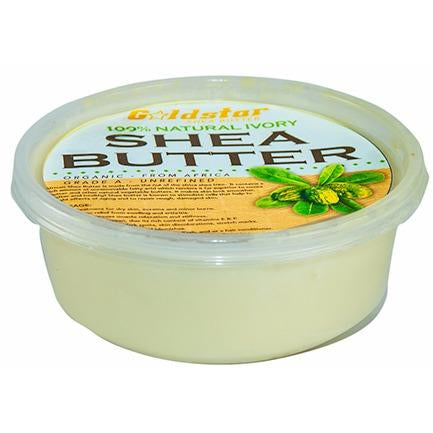 Goldstar 100% Grade A Raw Unrefined Organic Shea Butter (8 oz)
