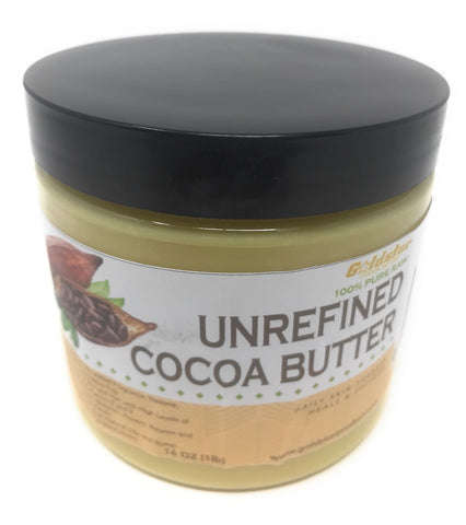 Goldstar 100% Pure Raw Unrefined Cocoa Butter - 16OZ (1 Pound)