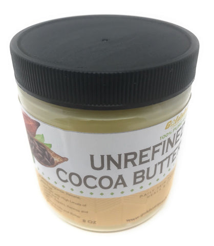 Goldstar 100% Pure Raw Unrefined Cocoa Butter - 8OZ