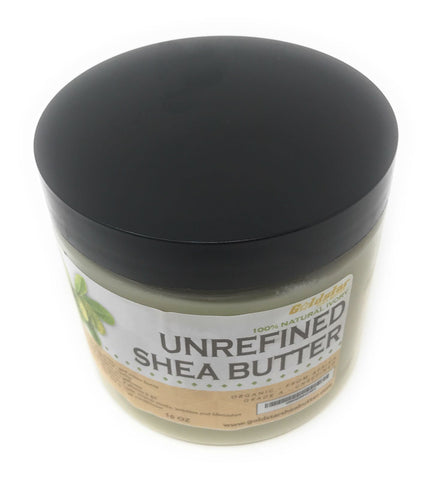 Goldstar 100% Grade A Raw Unrefined Organic Shea Butter (16 OZ/1 Pound)