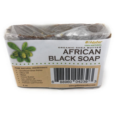 Goldstar Organic Shea Butter African Black Soap – 4 OZ