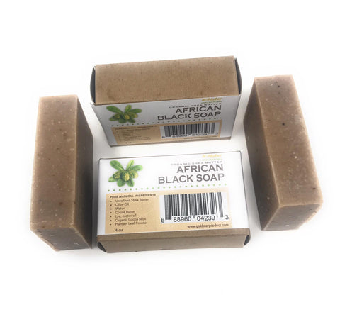 Goldstar Premium African Black Soap - 4 OZ (2 PACK)