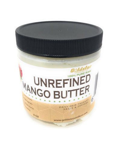 Goldstar 100% Pure Raw Unrefined Mango Butter - 8OZ