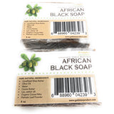 Goldstar Organic Shea Butter African Black Soap – 8 OZ (2 PACK)