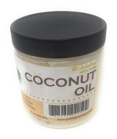 Goldstar 100% Pure Coconut Oil for Hair and Skin (8 OZ)