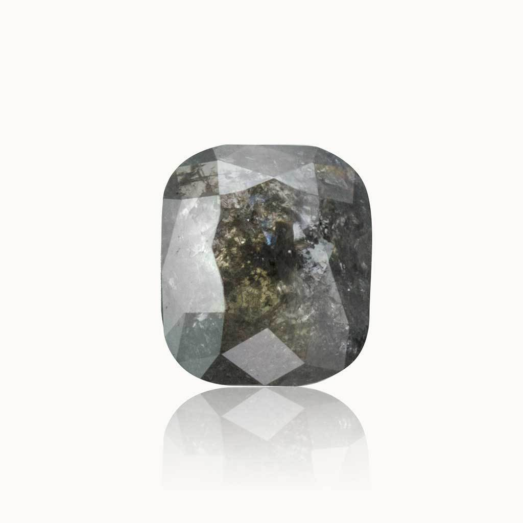 0.95 ct. Grey Salt and Pepper Cushion Diamond