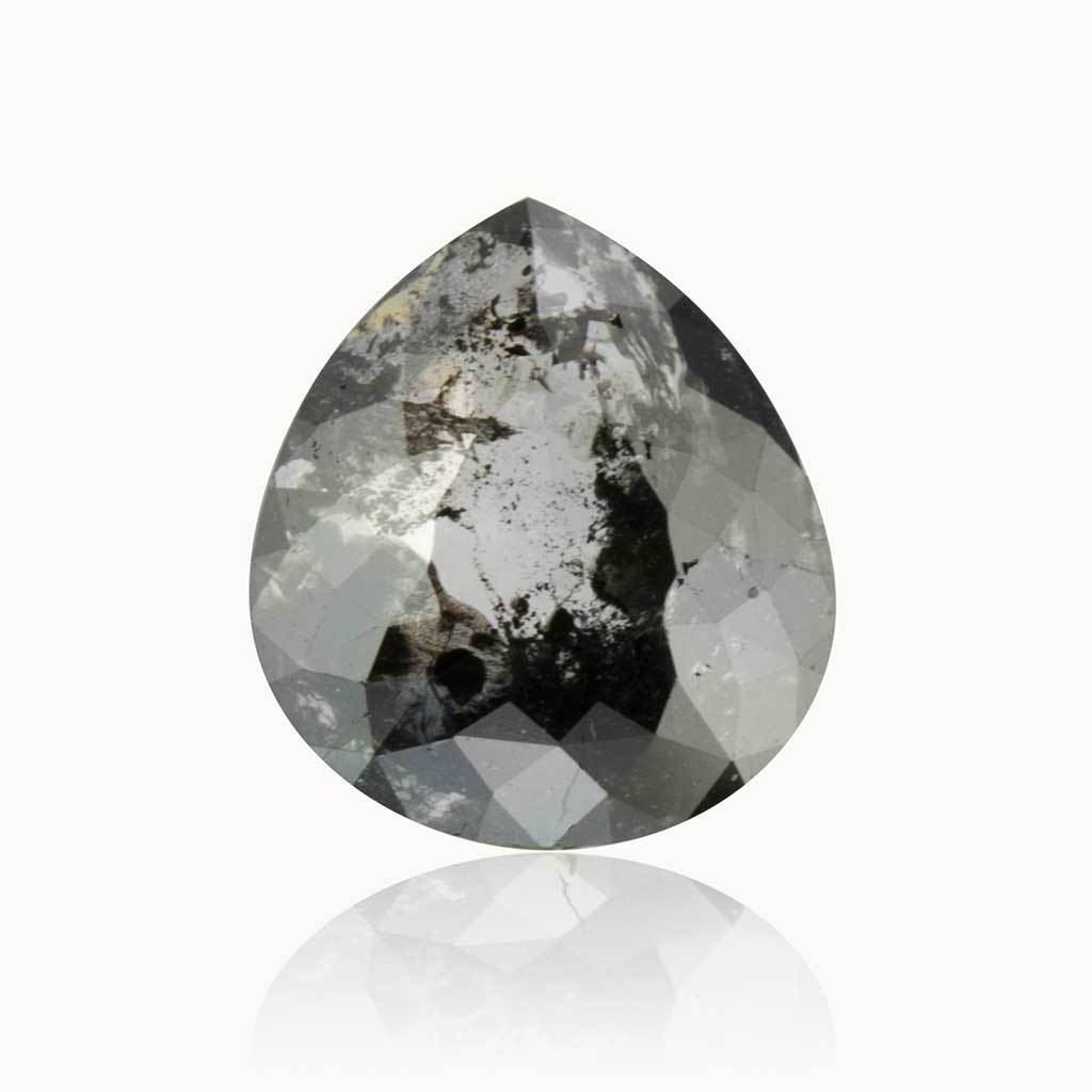 0.95 ct. Grey Salt and Pepper Pear Diamond