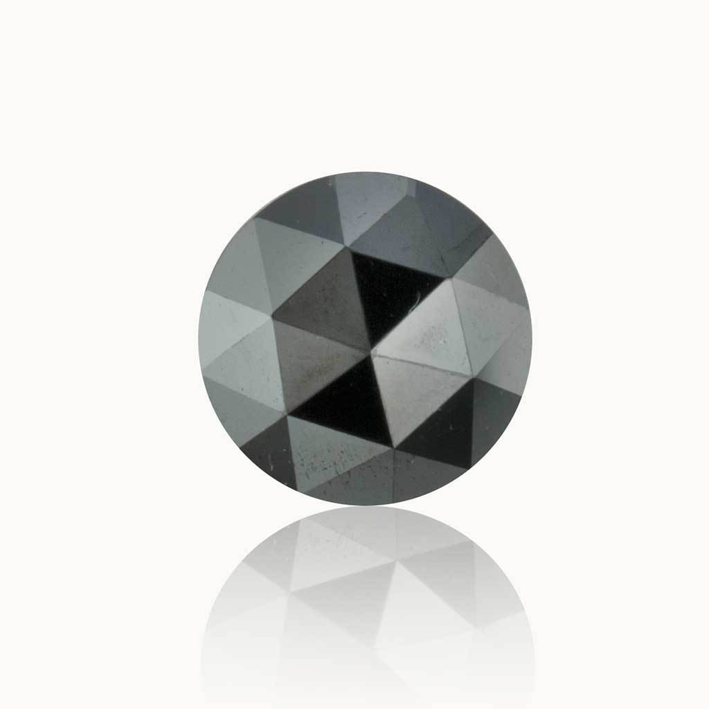 0.53 ct. Jet Black Round Diamond