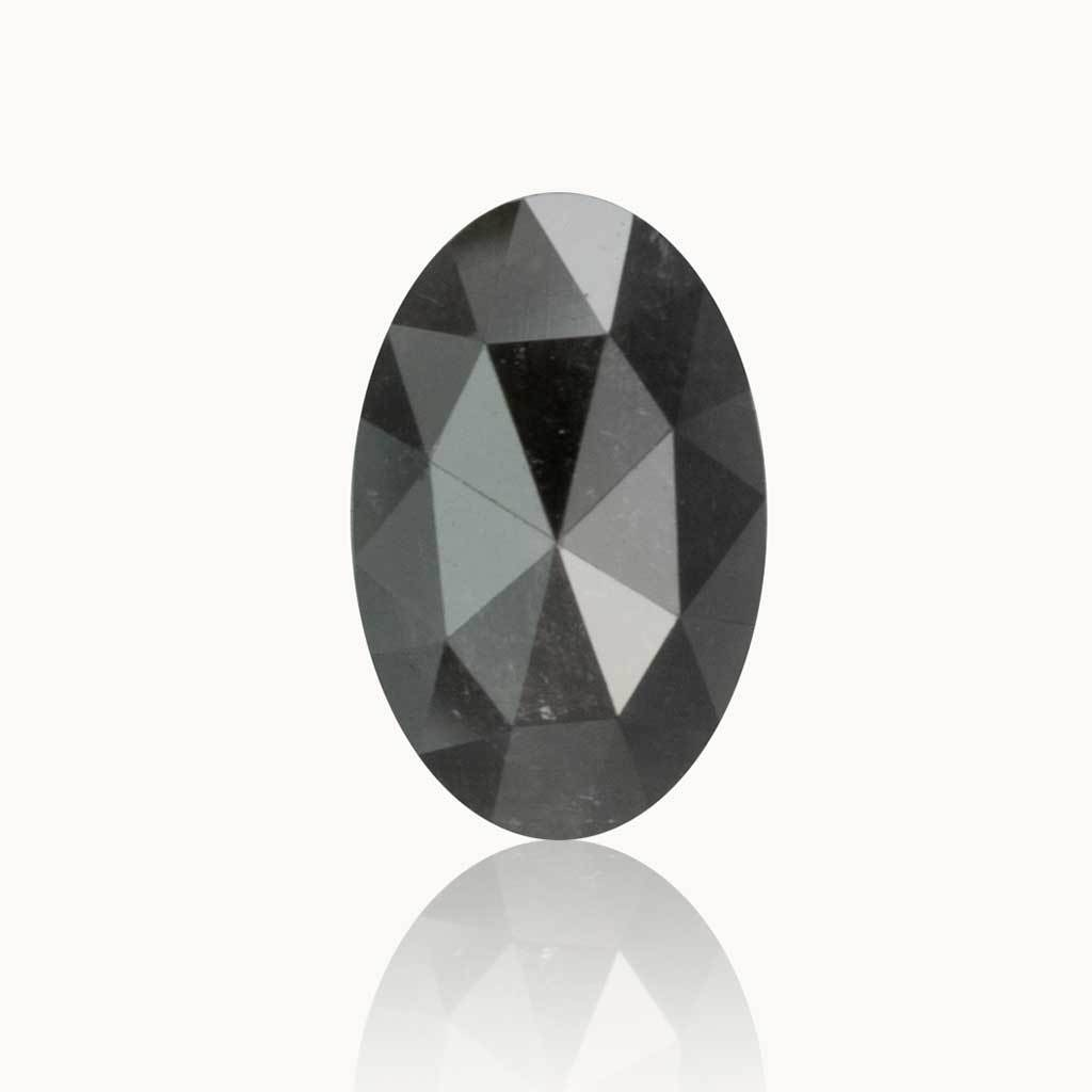 0.85 ct. Galaxy Grey Oval Diamond