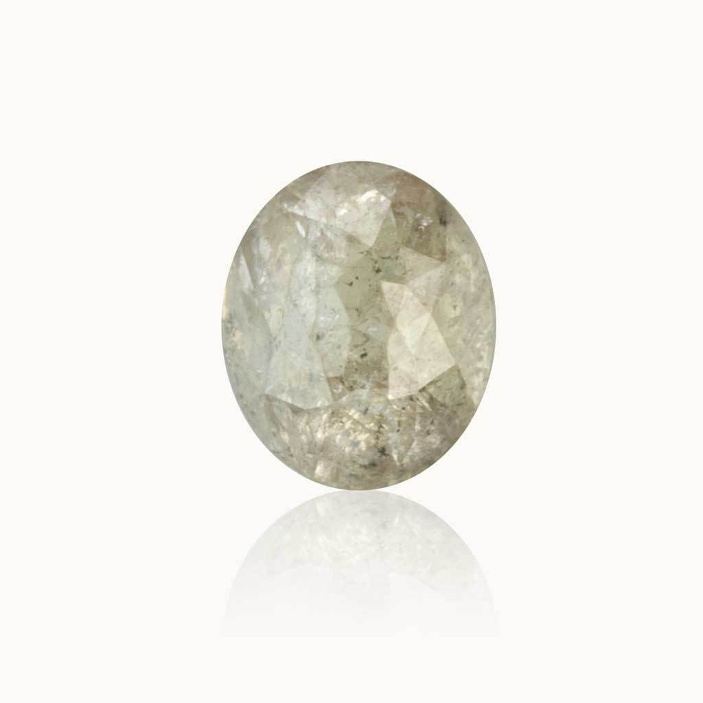 0.56 ct. Stardust Grey Oval Diamond