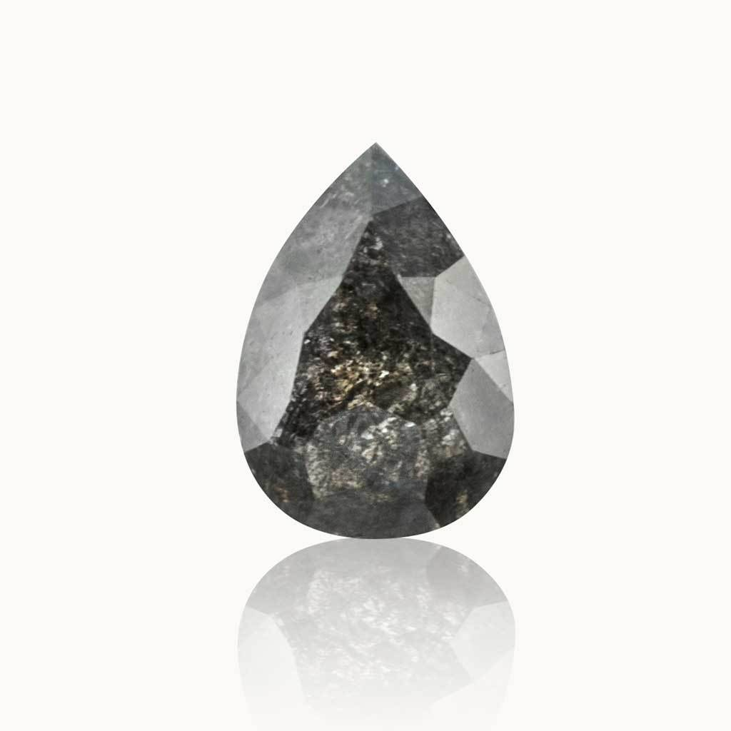 0.65 ct. Ash Grey Pear Diamond