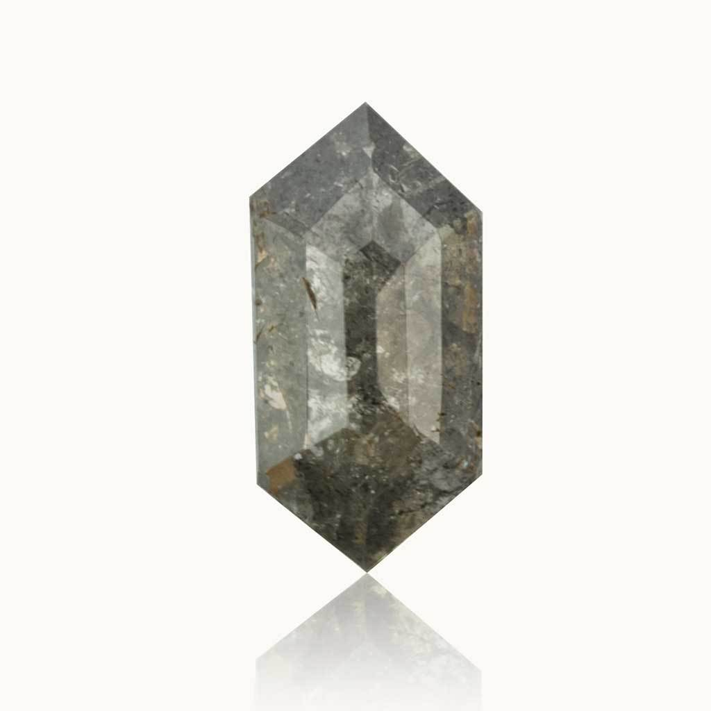 0.67 ct. Milky Grey Geometric Diamond