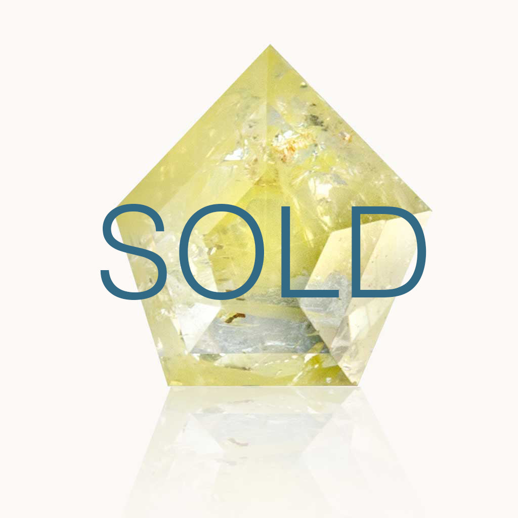 SOLD 0.65 ct. Stardust Yellow Geometric Diamond