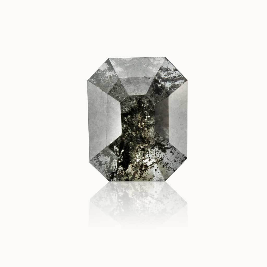 0.85 ct. Grey Salt & Pepper Emerald Diamond
