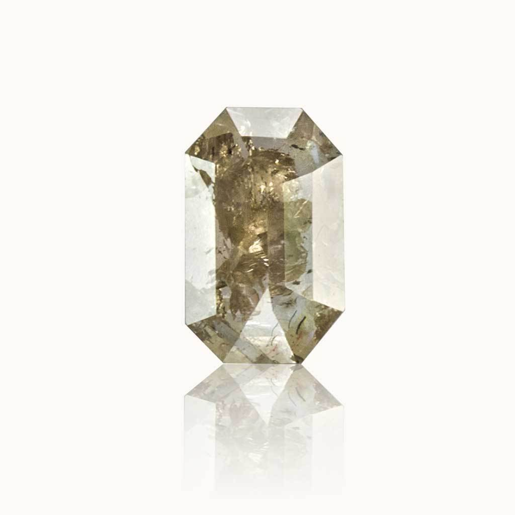 0.45 ct. Stardust Grey Emerald Diamond