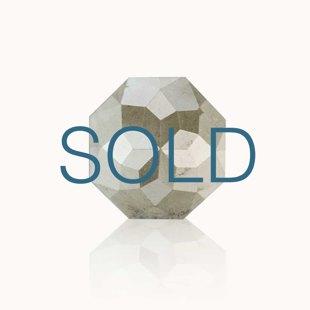 SOLD 0.68 ct. Milky Grey Geometric Diamond