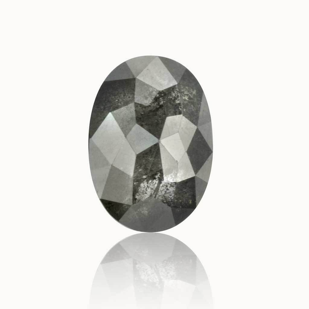 1.28 ct. Grey Salt & Pepper Oval Diamond