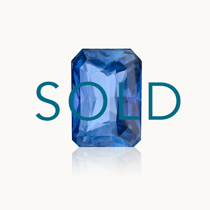 SOLD Blue Sapphire Radiant Cut