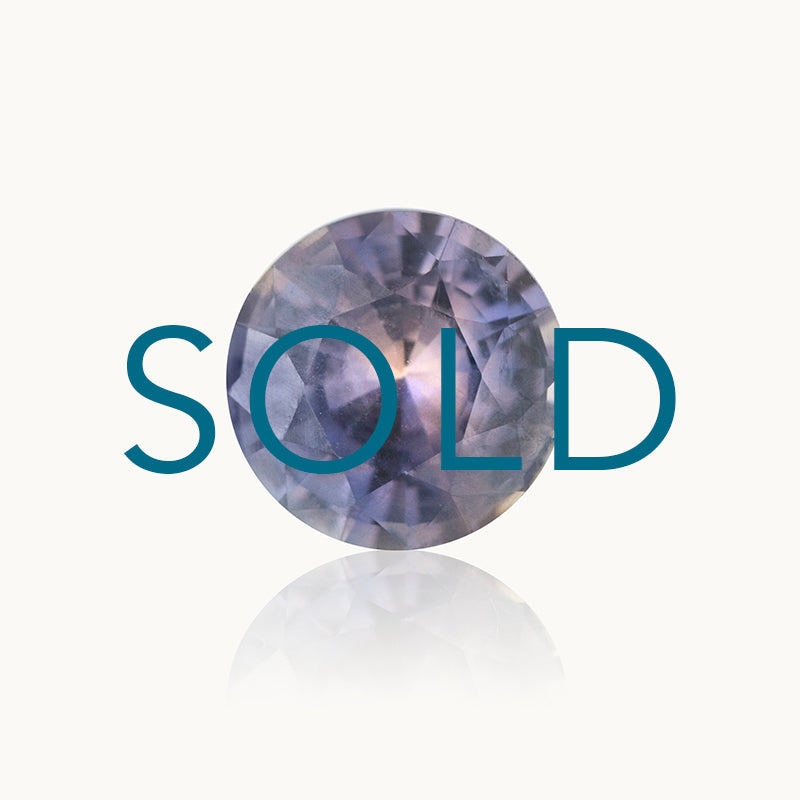 SOLD Purple Bi-Colour Round Sapphire