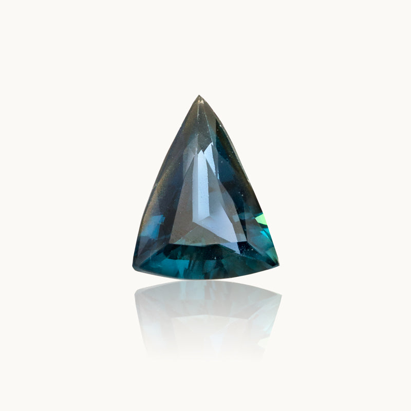 1.27 ct. Teal-Blue Bi-Colour Geometric Sapphire