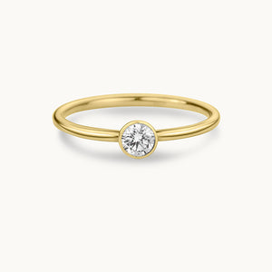 Kanso Bezel Set Yellow Gold Ring