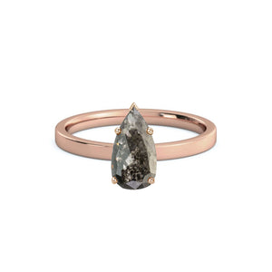 Marshall's Custom Engagement Ring featuring 1.66 ct. Grey Salt and Pepper Pear Diamond