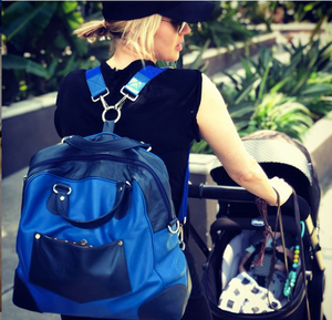 Briannne Davis (@thebriannedavis) prefers the myarka diaper Bag