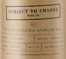 2017 Feliz Creek Method Ancestral Sparkling Wine
