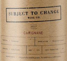 2017 Feliz Creek Carignane