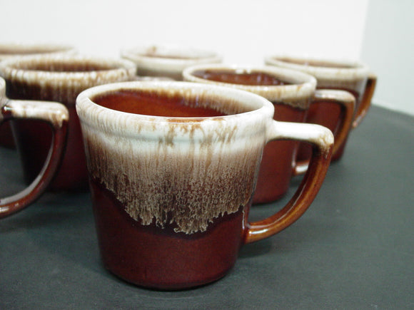 Set of Seven (7) McCoy Brown Drip