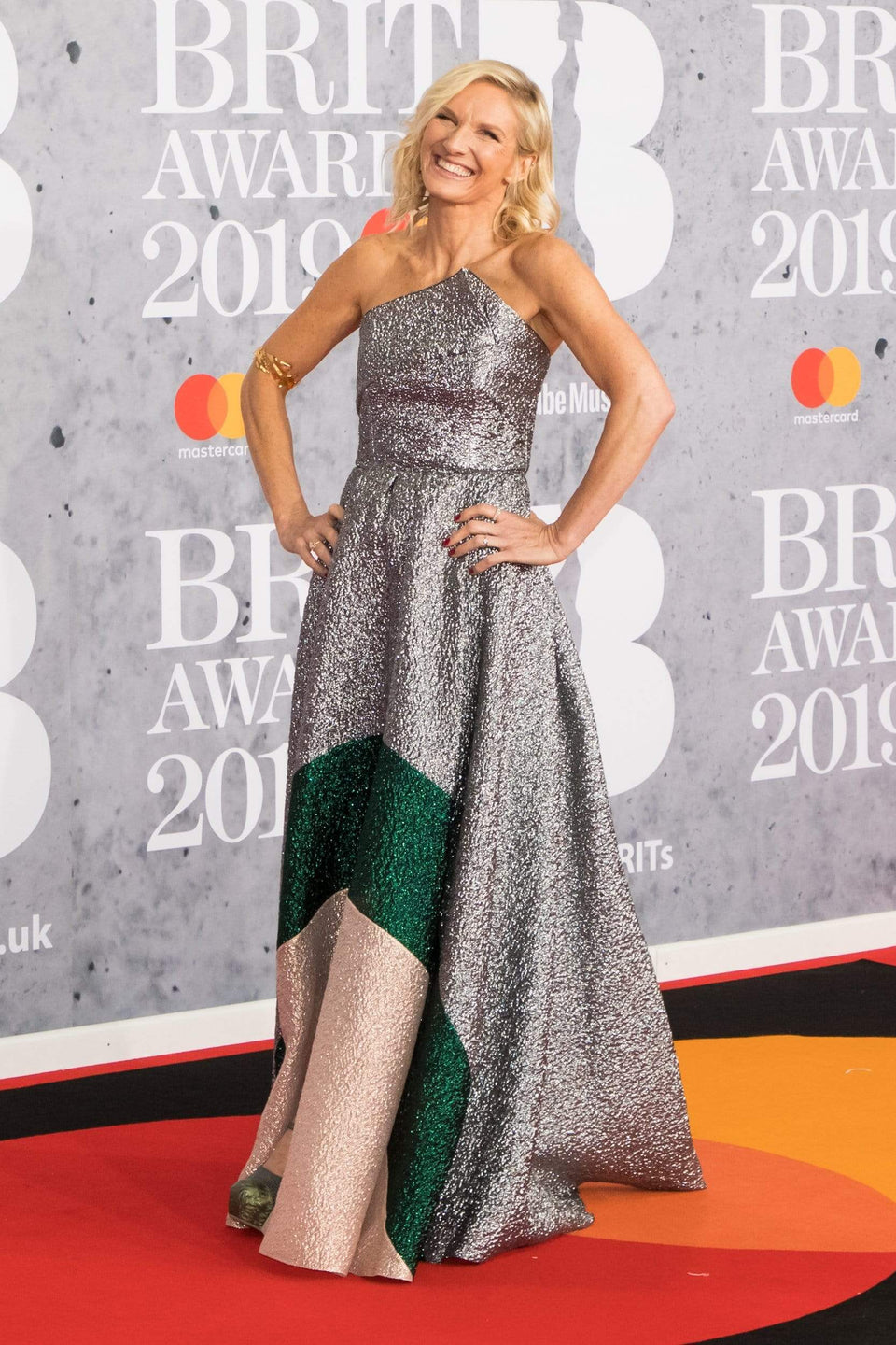 Jo Whiley wears Roland Mouret at The Brit Awards