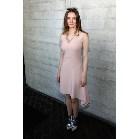 Roland Mouret RE18 Alysham Dress in Pale Pink as worn by Dakota Blue Richards