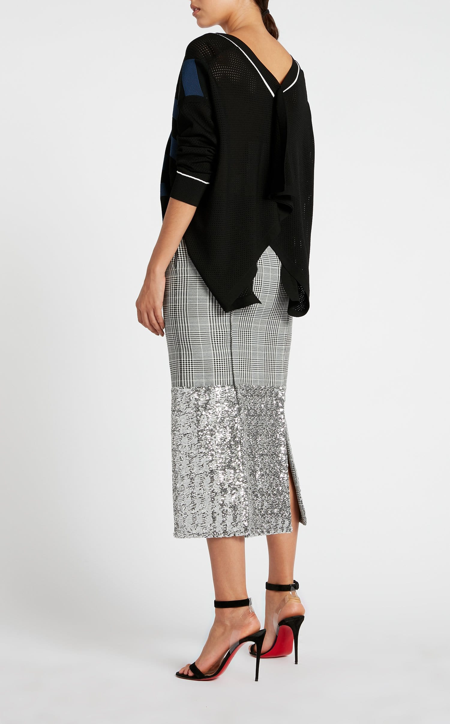 Abrams Skirt In Monochrome/Silver from Roland Mouret