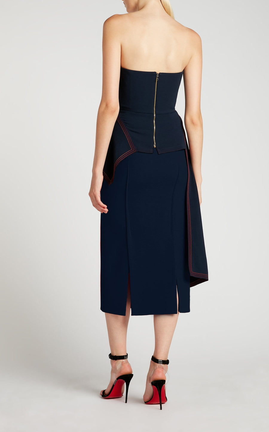 Abrams Skirt In Navy from Roland Mouret