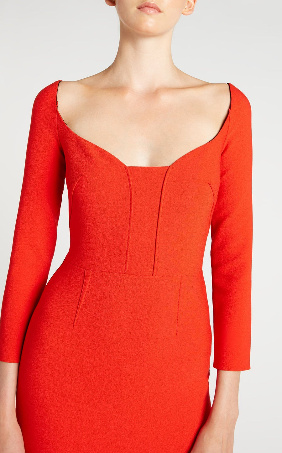 Ardon Dress In Poppy Red from Roland Mouret