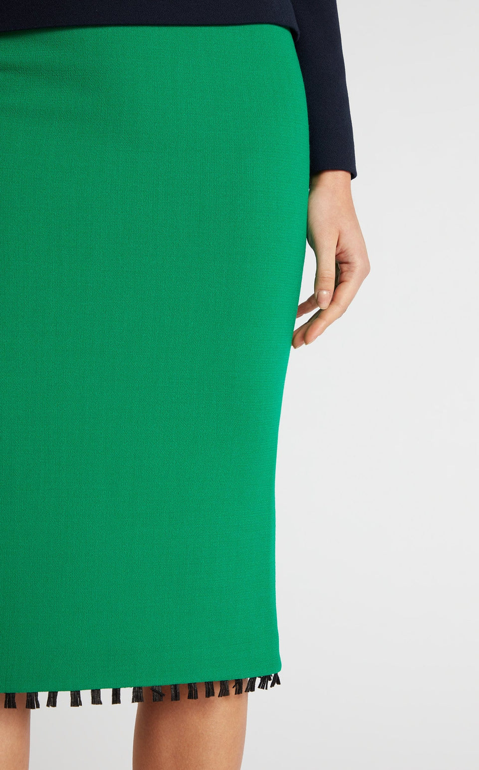 Arreton Skirt In Emerald/Black from Roland Mouret
