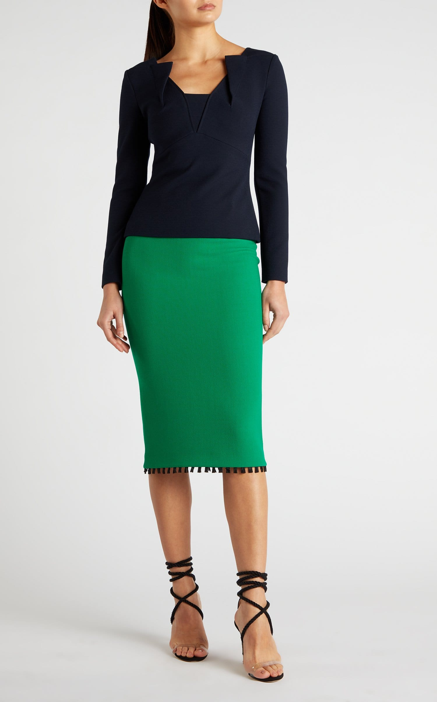 756ba1140a Arreton Skirt In Emerald/Black from Roland Mouret