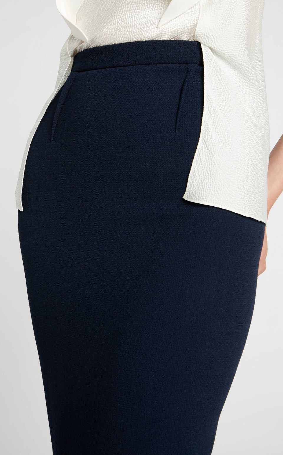 Arreton Skirt In Navy/Black from Roland Mouret