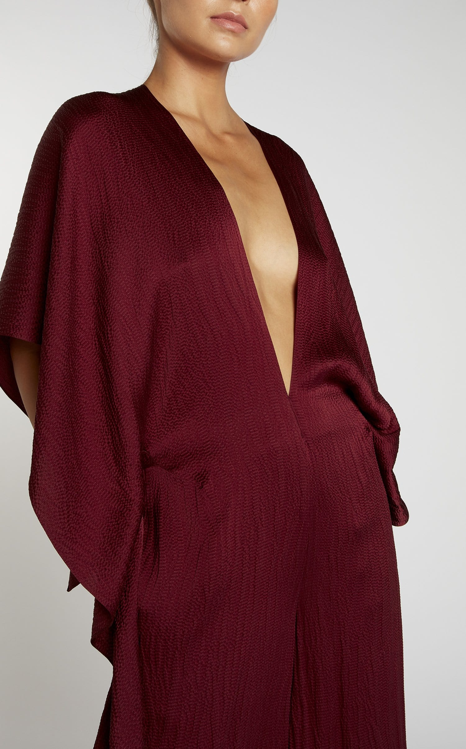 Auclair Jumpsuit In Cabernet from Roland Mouret
