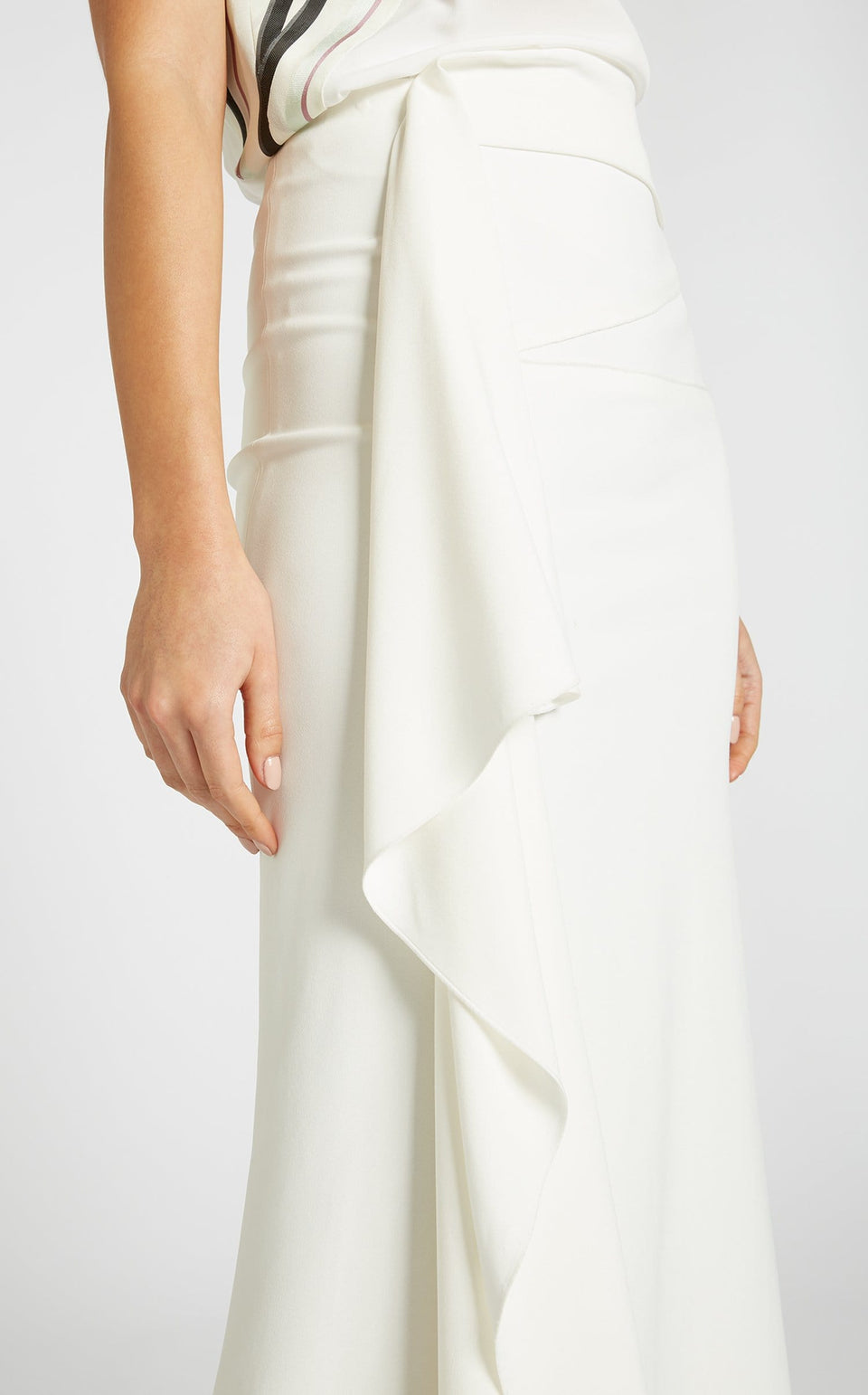 Kelley Skirt In White from Roland Mouret