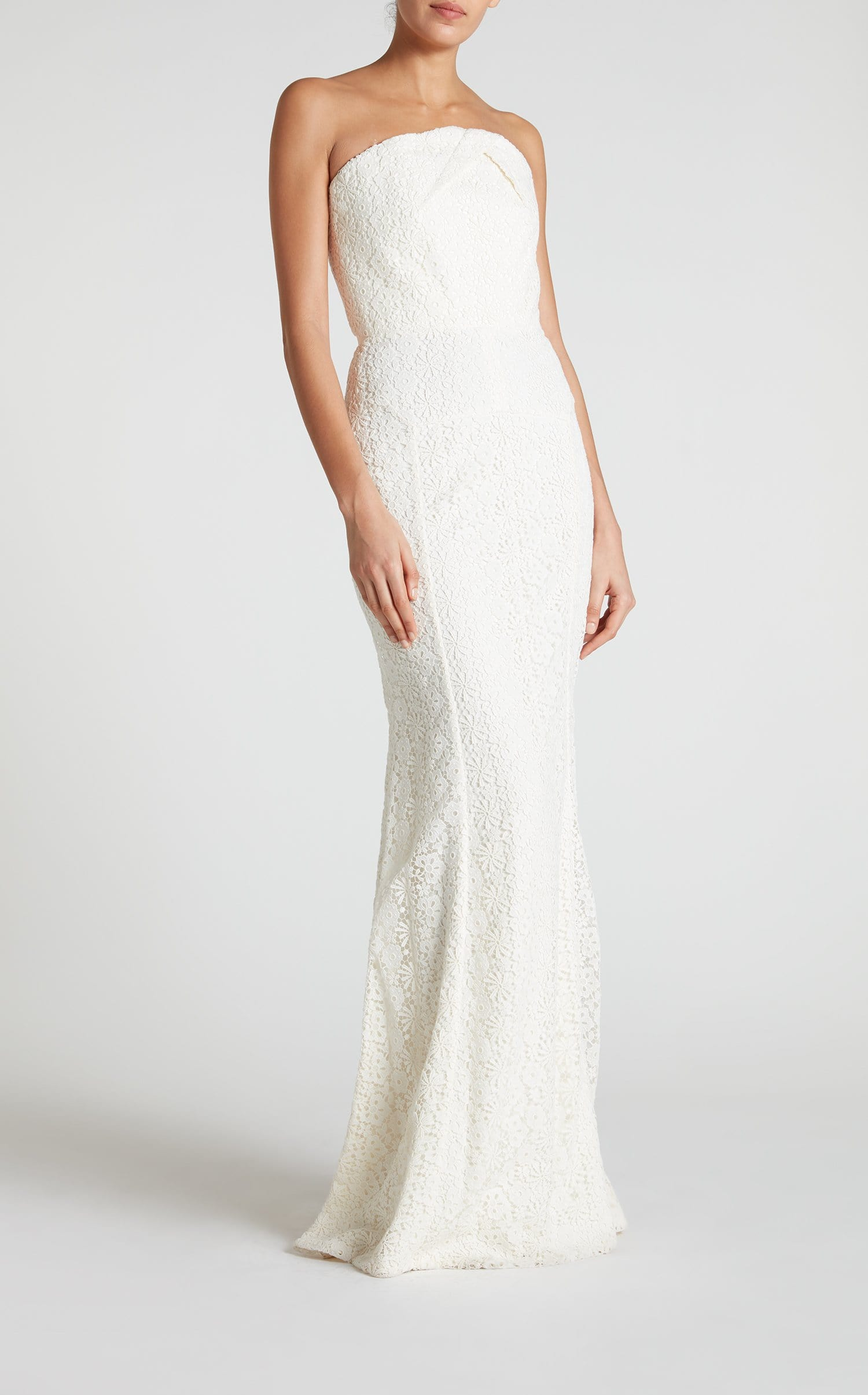 Bella Bridal Gown in Off-White Cotton Lace | Roland Mouret