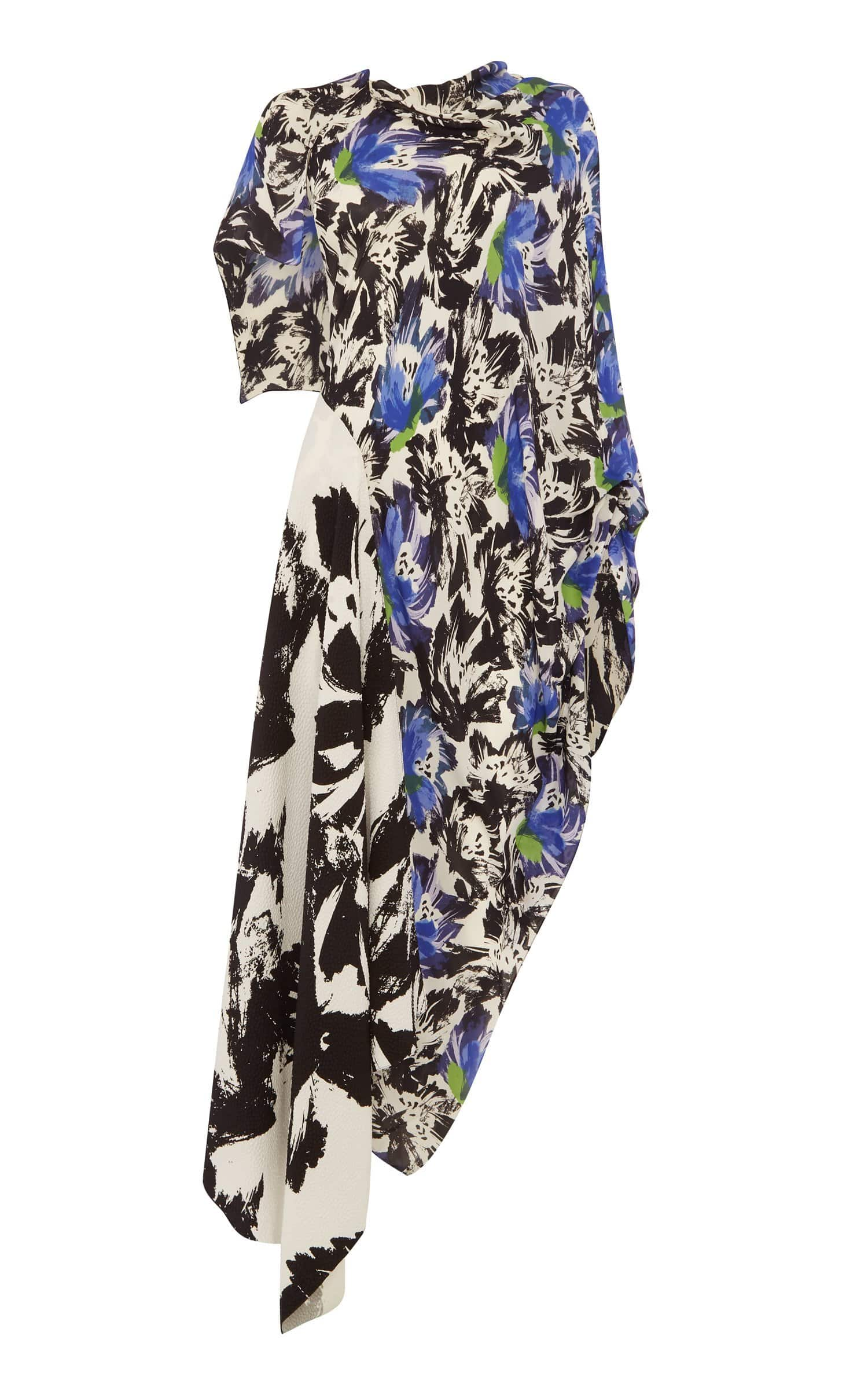 Calhern Dress In Mixed/Mono Lrg Painterly from Roland Mouret